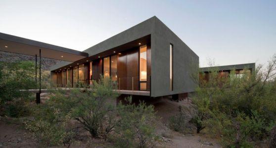 façade côté - Levin Residence par Ibarra Rosano Design Architects - Marana, Usa