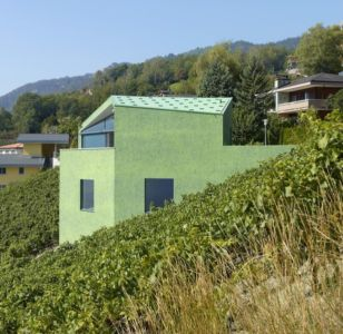 façade côté - Maison Iseli par François Meyer architecture - Venthôme, Suisse