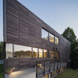 façade côté et terrasse - Red Rock House par Anmahian Winton Architects - Red Rock, Usa