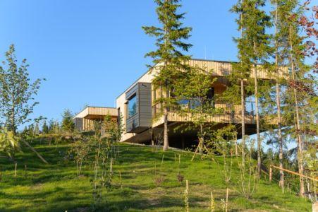 façade côté jardin - Deluxe Mountain Chalets par Viereck Architects - Styria, Autriche