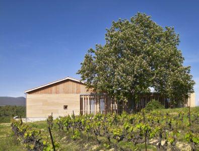façade dans les vignes - Stone house par Carl Fredrik Svenstedt architecte - Vallée du Luberon, France