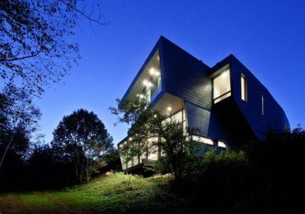 façade de nuit - Port Hope House par Teeple Architects - Ontario, Canada