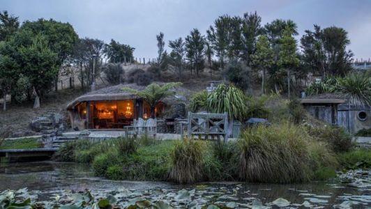 façade de nuit - Underhill par Graham Hannah à Waikato, Nouvelle-Zélande