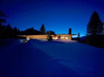 façade enneigée - Butte Residence par Carney Logan Burke Architects - Jackson, Usa
