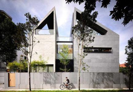 façade entrée - 66mrn house par Ong&Ong - Singapour