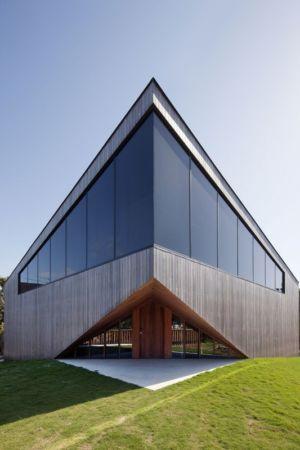 façade entrée - Aireys House par Byrne Architects -  Aireys Inlet, Australie