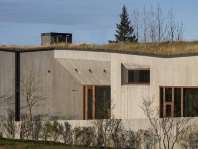 façade entrée - Bakkaflöt 14 par Studio Granda - Islande