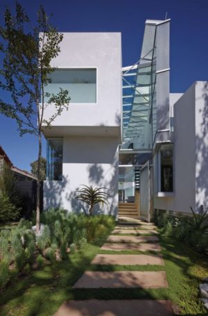 façade entrée - Birch Residence par Griffin Enright Architects - Los Angeles, Usa