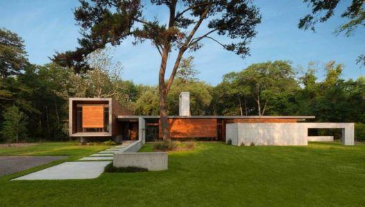 façade entrée - Bray's Island SC Modern II par SBCH Architects - Sheldon, Usa