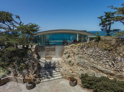 façade entrée - Carmel Highlands Residence par Eric Miller Architects - Carmel-By-The-Sea, Usa