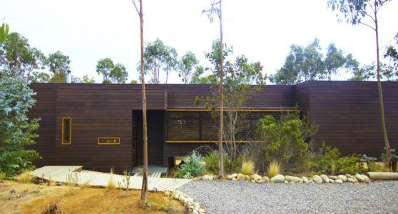 façade entrée - Casa Tunquén par CO2 Arquitectos - Vaparaiso, Chili