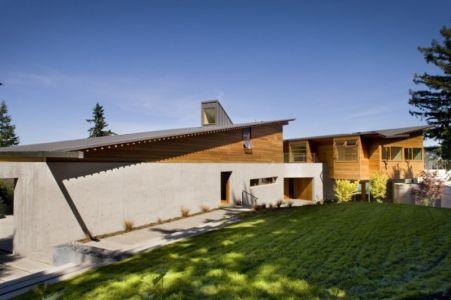 façade entrée - Cedar Park House par Peter Cohan - Seattle, Usa