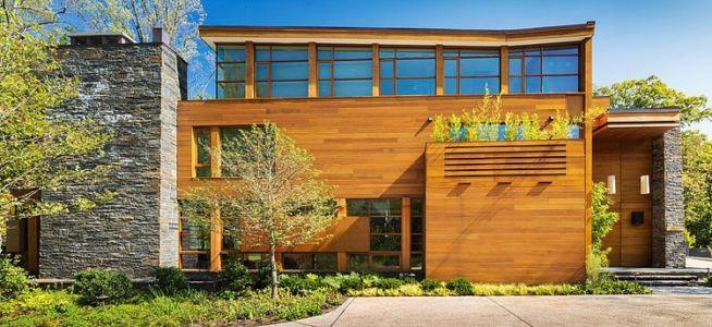 façade entrée - Chalon residence par Dynerman Architects - Bethesda, Usa