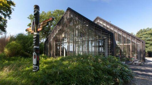 façade entrée - Donderen Barnhouse par aatvos - Donderen, Pays-Bas