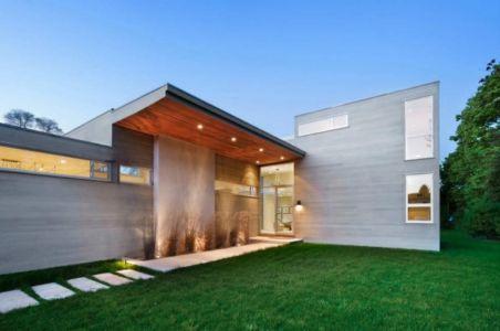 façade entrée - Fieldview house par Blaze Makoid Architecture - East Hampton, Usa
