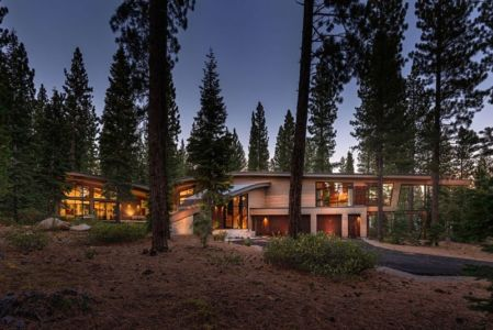façade entrée - Flight House in Martis Camp par Sage Architecture - Truckee, Usa