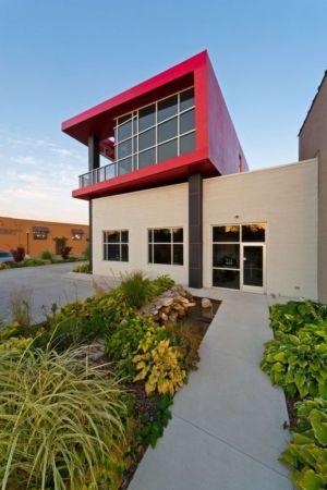 façade entrée  - Flute house par The Think Shop Architects - Royal Oak , Usa