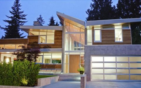 façade entrée - Forest House par Garret Cord Werner - Vancouver, Canada