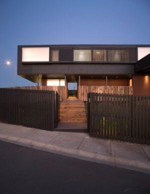 façade entrée - GB-House par EMA Arquitectos - Concón, Chili
