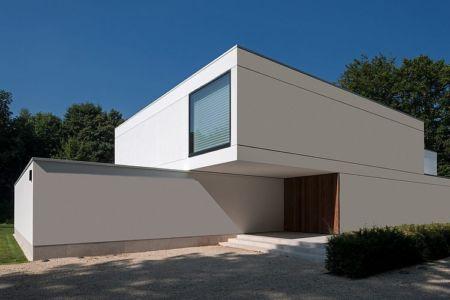 façade entrée - HS Residence par Cubyc Architects - Bruges, Belgique