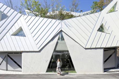 façade entrée - HWA HUN par IROJE KHM Architects - Pyeongchang-dong, Corée du Sud