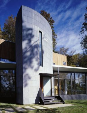 façade entrée - Hargrave-Residence par Robert M. Gurney Architect - Maryland, Etats-Unis