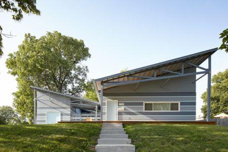 façade entrée - Heartland habitat for humanity par El Dorado - Kansas City, Usa