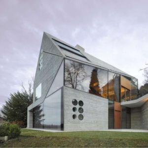façade entrée - House H36 par MBA-S architecture - Stuttgart, Allemagne