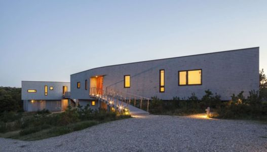 façade entrée - House of Shifting Sands par Ruhl Walker Architects - Wellfleet, Usa
