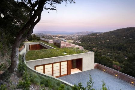 façade entrée - Kentfield Residence par Turnbull Griffin Haesloop Architects - Kentfield, Usa