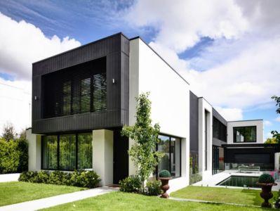 façade entrée - Kew House par Amber Hope Design - Melbourne, Australie