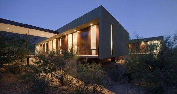 façade entrée - Levin Residence par Ibarra Rosano Design Architects - Marana, Usa