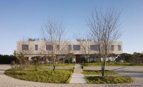 façade entrée - Long Island House par 1100 Architect - NY, Usa