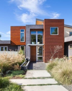 façade entrée - Los-Altos-House Dotter Solfjeld Architecture - Los Atlos, USA