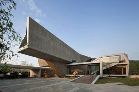 façade entrée - Maison Rivendell par IDMM Architects - Corée du sud