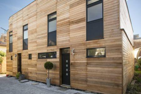 façade entrée - Maisons jumelées par MAG architectes - France - photo Stéphano Candito