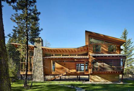 façade entrée - Mazama House par FINNE Architects - Methow Valley, Usa