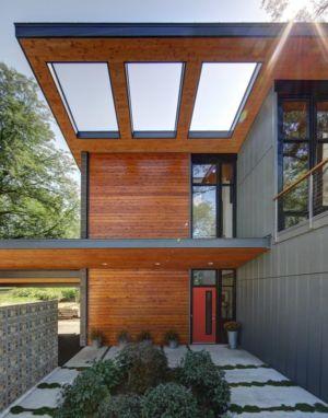 façade entrée - Midvale Courtyard House par Bruns Architecture - Madison, Usa