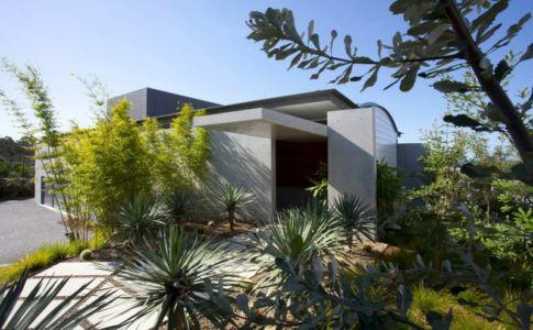 façade entrée - Mosman house par Popov Bass Architects - Sydney,Australie - photo Kraig Carlstrom