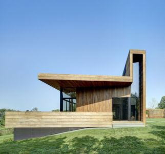 façade entrée - Mothersill par Bates Masi Architects - Water Mill, Usa