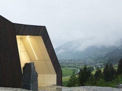 façade entrée - Mountain-View House par SoNo arhitekti - Kitzbuehel, Slovénie