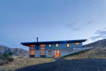 façade entrée - Nahahum Canyon House par Balance Associates - Nahahum Canyon, Usa