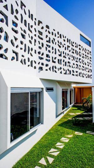 façade entrée - Nest house par Gerardo Ars Arquitectura - Alvarado, Mexique