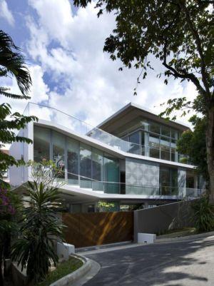 façade entrée - OOI House par Czarl Architects - Singapour
