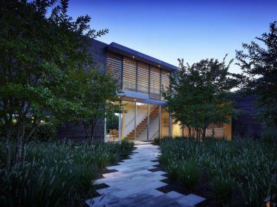 façade entrée - Orchard House par Stelle Lomont Rouhani Architects - Sagaponack, Usa