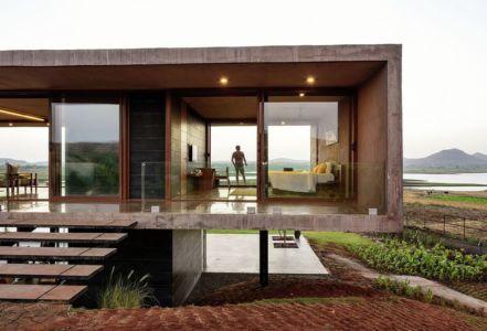 façade entrée - Panorama House par Ajay Sonar - Maharashtra, Inde