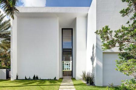 façade entrée - Peribere Residence par Max Strang Architecture - Biscayne Bay, Usa
