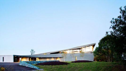 façade entrée - Port Hope House par Teeple Architects - Ontario, Canada