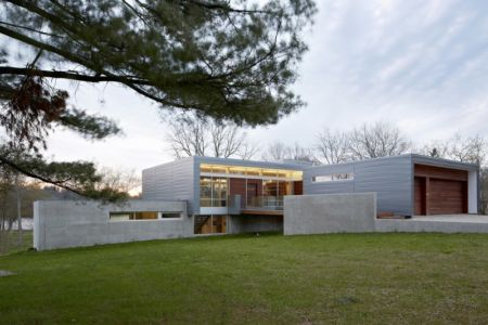 façade entrée - Riverview House Studio Dwell Architects - Wayne, Usa