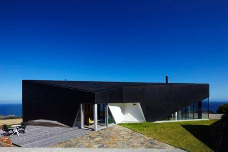 façade entrée - Scape House par Andrew Simpson Architects - Victoria, Australie